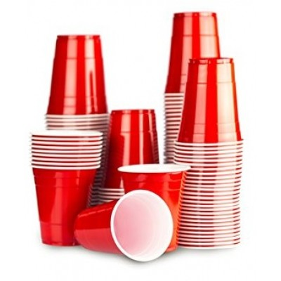 American cups rood (25st)