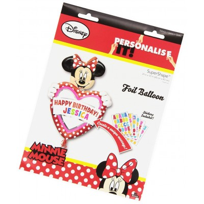 Minnie mouse folie ballon gepersonaliseerd