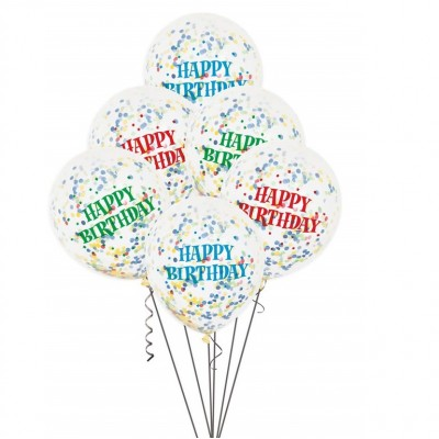 Helium Ballon Confetti Mix Birthday