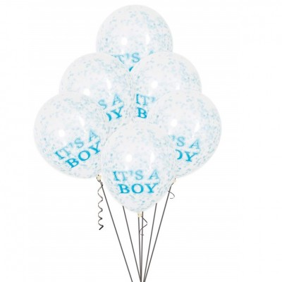Helium Ballon Confetti It's a Boy