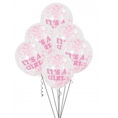 Helium Ballon Confetti It's a Girl