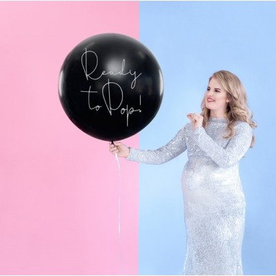 Helium Ballon Gender Reveal Ready to Pop 80 cm