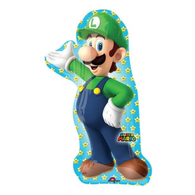 Super mario folie ballon luigi super shape