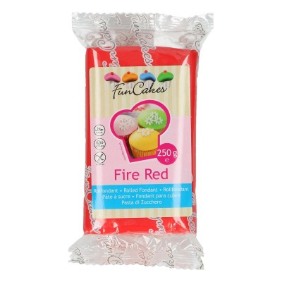 Funcakes fondant fire red (250gr)