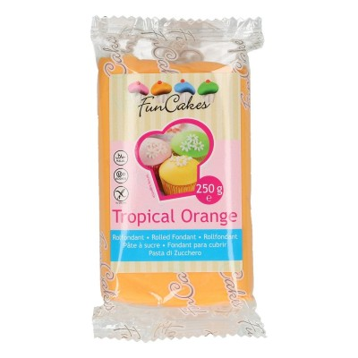 Funcakes fondant tropical orange (250gr)