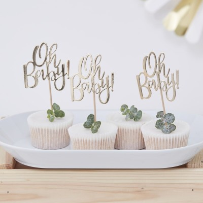 Oh Baby! cupcake toppers 12 stuks