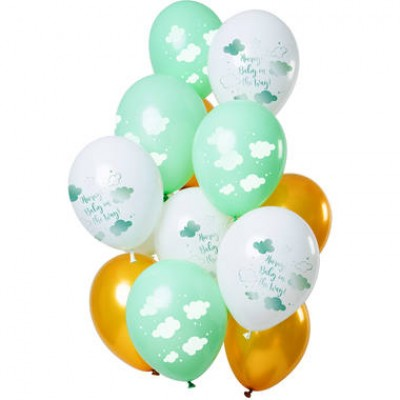 Helium ballonnen boeket Hooray baby on the way 12-delig