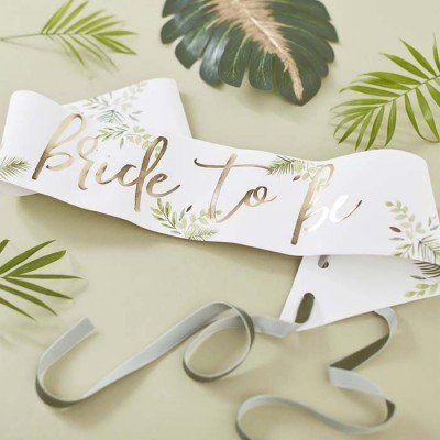 Botanical wedding bride to be sjerp 77 cm
