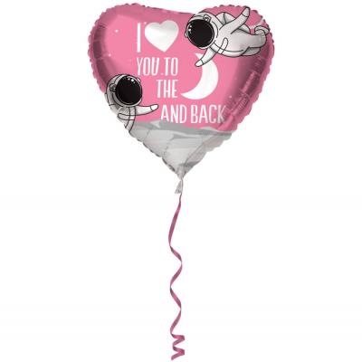 Helium Ballon To The Moon and Back 45 cm