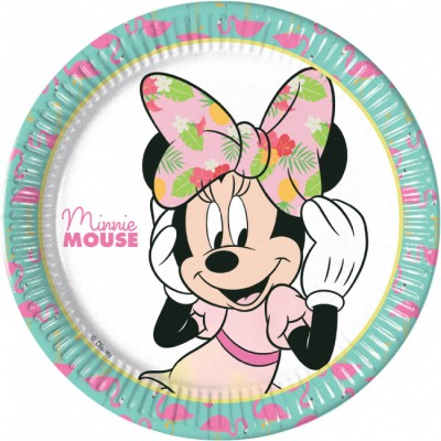 Minnie mouse tropical dinerborden 8 stuks