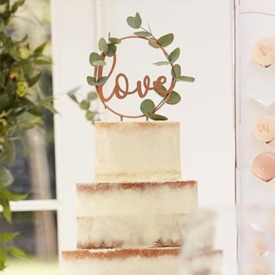 Taarttopper Love Botanical Wedding 18 cm