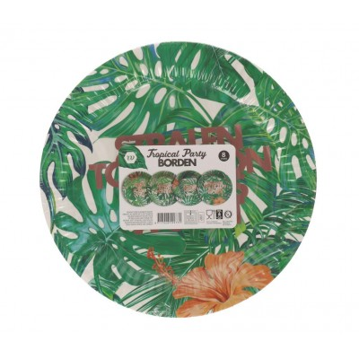 Tropical party dinerborden (8st)