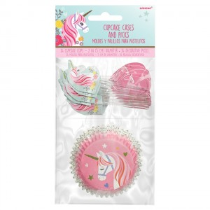 Unicorn magical cupcake cups + prikkers