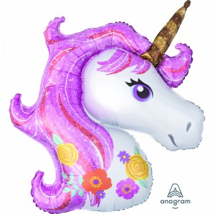 Unicorn magical folie ballon 83 x 73 cm