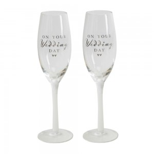 Amore - champagne flutes wedding day