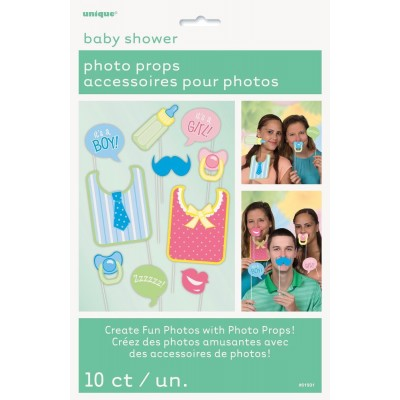 Babyshower photobooth props 10-delig