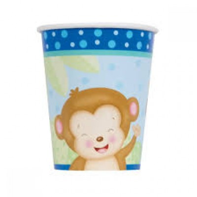 Baby boy monkey drinkbekers 8 stuks
