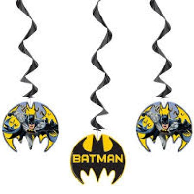 Batman hero swirls 3 stuks