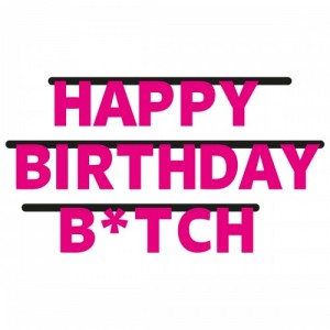 Party letterslinger happy birthday b*tch 300 cm