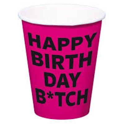 Party bekers happy birthday b*itch  (8st)