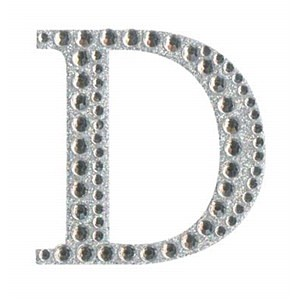Diamant letter sticker d