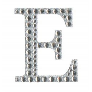 Diamant letter sticker e