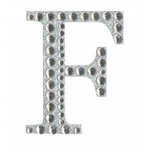 Diamant letter sticker f