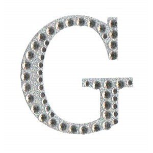 Diamant letter sticker g