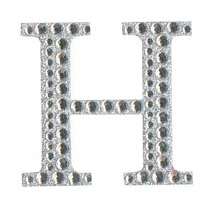 Diamant letter sticker h