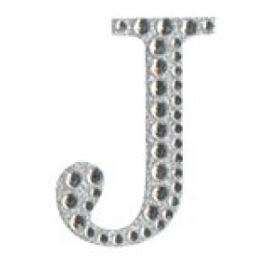 Diamant letter sticker j