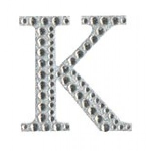 Diamant letter sticker k