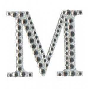 Diamant letter sticker m