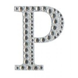 Diamant letter sticker p