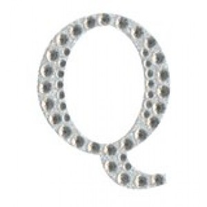 Diamant letter sticker q