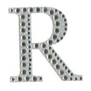 Diamant letter sticker r