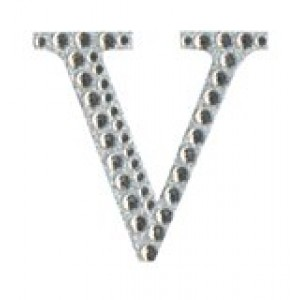 Diamant letter sticker v