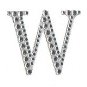 Diamant letter sticker w