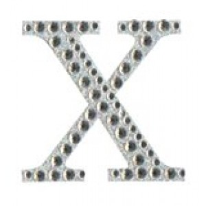 Diamant letter sticker x
