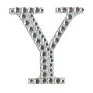 Diamant letter sticker y