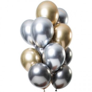 Helium Ballonnen Boeket Chrome Chique Mix 12-delig