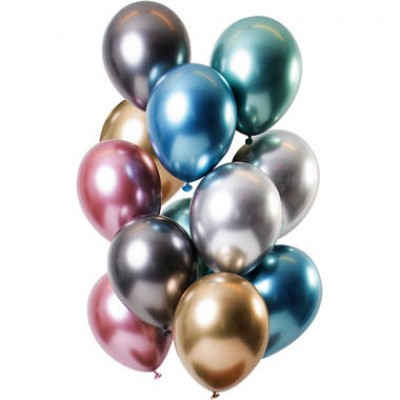 Helium Ballonnen Boeket Chrome Color Mix 12-delig