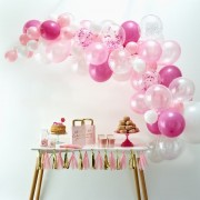 Ginger Ray balloon arch kit roze