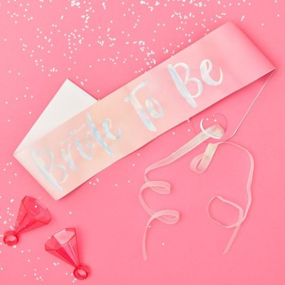 Bride to Be Sjerp Ombre Roze