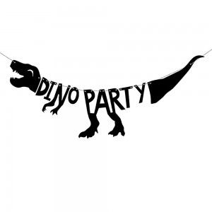Dino party banner