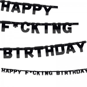 Party letterslinger happy f'cking birthday 6 meter