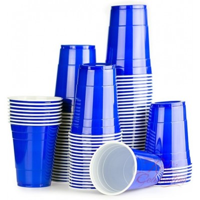 American cups blauw (25st)
