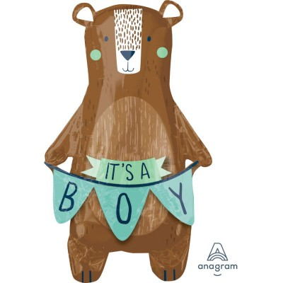 Helium Ballon Bear It's a Boy 86 x 50 cm