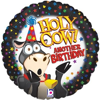 Helium Ballon Holy Cow Another Birthday 46 cm