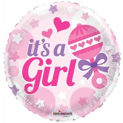 Helium Ballon It's a girl 46 cm