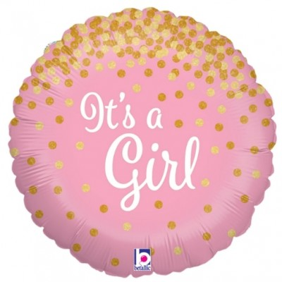 Helium Ballon Sparkling It's a Girl 46 cm